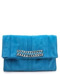 Blue Suede Clutch