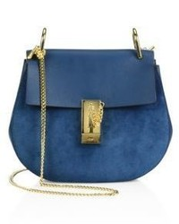 Chloe mini drew suede leather saddle bag medium 4397204