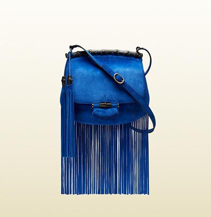 8d1aabd7f Gucci Nouveau Fringe Suede Shoulder Bag, $2,500 | Gucci | Lookastic.com