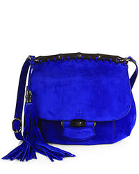 229fa161cf9 Women s Blue Suede Crossbody Bags by Gucci
