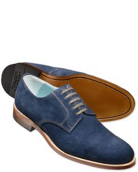 Charles Tyrwhitt Blue Suede Millbank Derby Shoes