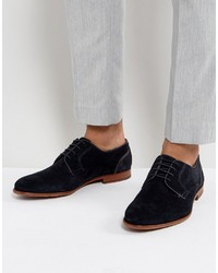 Ted Baker Iront Suede Derby Shoes In Navy