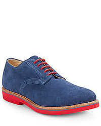Walk-Over Suede Contrast Sole Midi Derby Shoes
