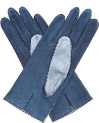 Bottega Veneta Bi Colour Suede Gloves