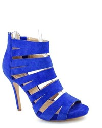 BCBGeneration Jazzie Blue Platforms Suede Dress Sandals Shoes