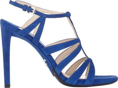 prada blue suede sandals