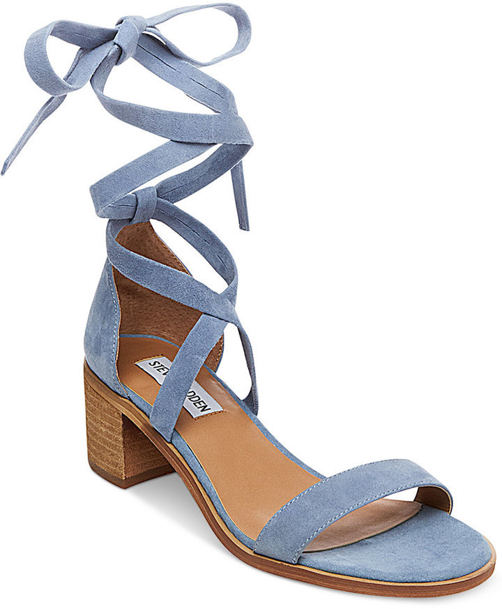 804fd4f7f2a $55, Steve Madden Rizza Lace Up Block Heel Sandals