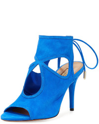 Sexy thing suede cutout sandal mondrian blue medium 403310