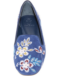 61f32c3693a ... Tory Burch Embroidered Floral Smoking Slippers ...