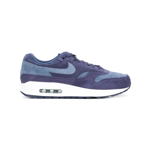new concept c50fe 069f7 ... Blue Suede Low Top Sneakers Nike Air Max 1 Sneakers ...
