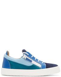 Blue colorblocked may london sneakers medium 3698433