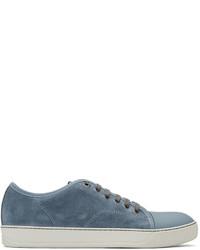 Blue suede tennis sneakers medium 1183603