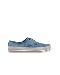 Prada Laceless Slip On Sneakers