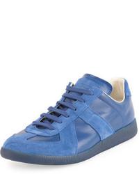Replica leather suede low top sneaker medium 3729062