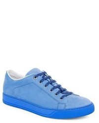 Lanvin Suede Low Top Sneakers