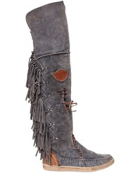 El vaquero 20mm fringed over the knee suede boots medium 1141392