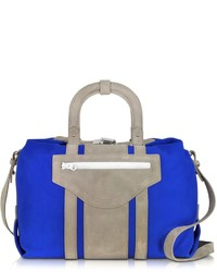 Pelham blue fabric and suede handbag medium 227682