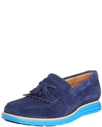 2690b4b2db2 Men s Blue Suede Tassel Loafers by Cole Haan