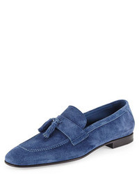 Suede tassel loafer royal blue medium 18681
