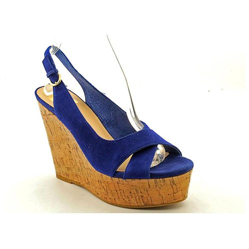 b5fcbced252e ... Dolce Vita Jill Blue Suede Wedge Sandals Shoes Uk 5