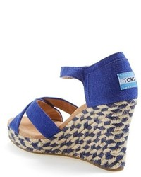 252bf73eb05 $68, Toms Mixed Rope Wedge Sandal