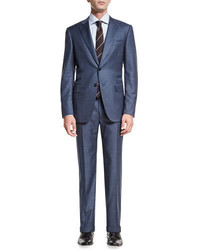 Isaia Gregory Pinstripe Two Piece Suit Light Blue