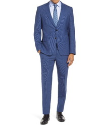 BOSS Hugegenius Slim Fit Houndstooth Wool Suit