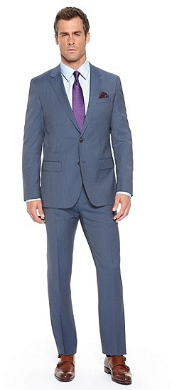 Hugo Boss Hugegenius Slim Fit Super 100 Virgin Wool Pinstripe Suit ...