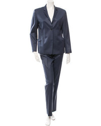 Jil Sander Iridescent Notch Lapel Pantsuit