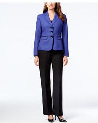Le Suit Three Button Colorblocked Pantsuit