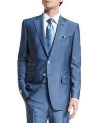 Oconnor base half lined silk suit light blue medium 713365