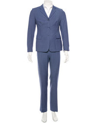 Piazza Sempione Pinstripe Wool Two Piece Pantsuit