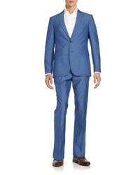 Regular fit wool mohair blend suit medium 842786