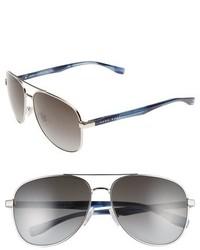 BOSS 0700s 60mm Aviator Sunglasses Palladium Dark Horn