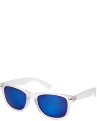 21men 21 Mirrored Clear Matte Sunglasses