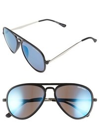 Steve Madden 55mm Aviator Sunglasses Black Blue