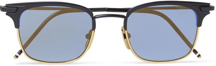 56e5d9fa30f ... Thom Browne Acetate And Metal Square Frame Sunglasses ...