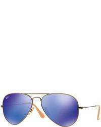 Ray-Ban Aviator Mirror Sunglasses Blue