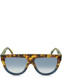 celini handbags - Celine Cline Cl41026s Shadow Havana Blue Acetate Sunglasses ...