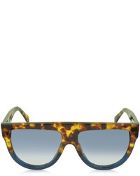 Celine Cline Cl41026s Shadow Havana Blue Acetate Sunglasses