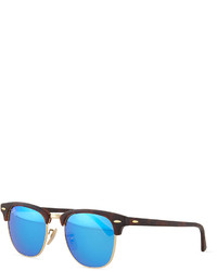 Ray-Ban Clubmaster Half Rimmed Sunglasses Tortoiseblue