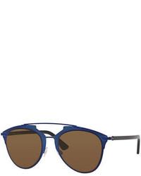 Christian Dior Dior Dior Reflected Two Tone Aviator Sunglasses Bluegold