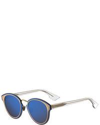Christian Dior Dior Diornightfall Square Mirrored Sunglasses