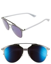 Dior reflected 52mm brow bar sunglasses palladium white medium 697152