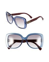 Fendi 55mm Retro Sunglasses Blue One Size