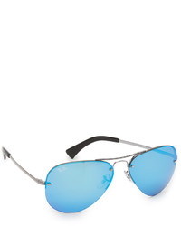 Ray-Ban Highstreet Mirrored Aviator Sunglasses