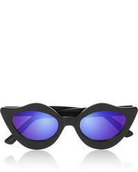 House of Holland Lipstick Cat Eye Acetate Mirrored Sunglasses