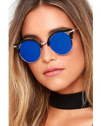LuLu*s Next Move Pink Mirrored Sunglasses