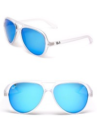Ray-Ban Matte Transparent Mirror Aviator Sunglasses