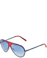 DSQUARED2 Metal Aviator Sunglasses Redblue